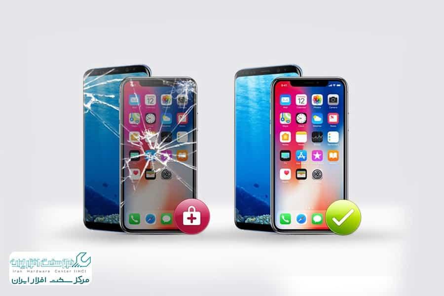 تعویض گلس ال سی دی موبایل اپل