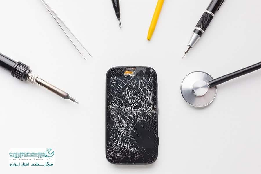 تعویض گلس موبایل