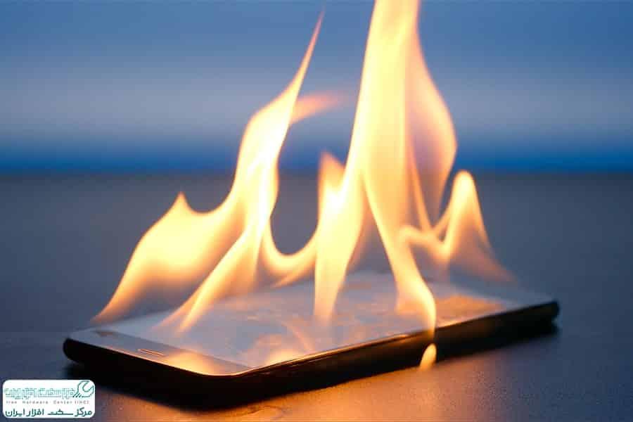 داغ شدن موبایل