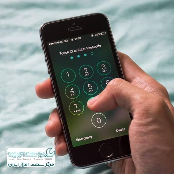 نحوه رمزگذاری و قفل آیفون
